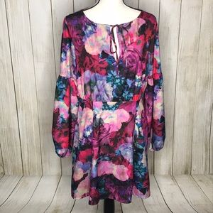 Gianni Bini Emma Long Sleeve Floral Mini Dress